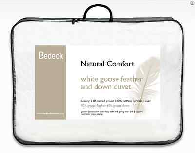 Bedeck Goose Feather & Down Duvet 10.5 tog 90% Feather 10% Down Luxury