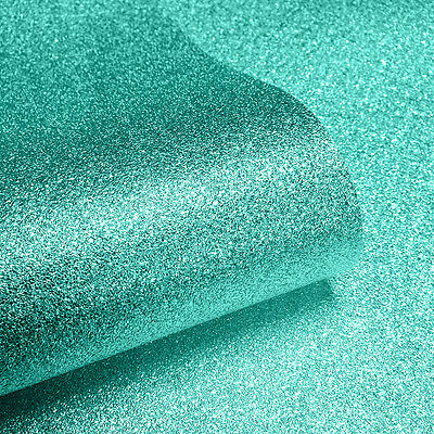 Muriva Sparkle Hot Teal Glitter Effect Quality Feature Wallpaper 701355