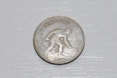 1953 1 Franc Luxembourg (Letzeburg) Coin