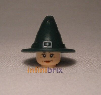 Lego Professor McGonagall Head + Wizard Hat from set 4842 for Harry Potter NEW
