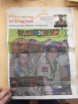 4 issues of the 20th World Scout Jamboree 2003 Official Newspaper (1,2, 8 and 9)