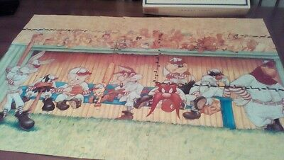1993 Looney Tunes 1100 Piece Jigsaw Puzzle: Baseball Dugout