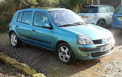 2005 RENAULT CLIO DYNAMIQUE 16V BLUE Well equipped 5 Door, ono