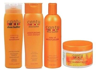 Cantu Moisturising Shampooo&Conditioner, Oil Moisturiser, Deep Masque (Set)