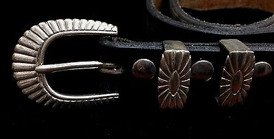Leather Belt with Sterling Buckle