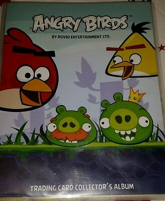 Angry Birds trading cards collectors album with cards