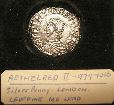 King Aethelred II Penny!!! Silver!! (979-1016 AD)