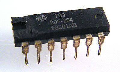 Genuine RS 305-254 ( 709 ) I.C. Oerational Amplifier 14 Pin DIL OMB2-03