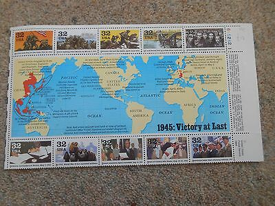 Stamps Usa Victory At Last Sheet Mint Condition.