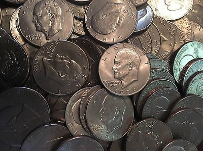 200 COIN LOT OF EISENHOWER (IKE) DOLLARS @ ONLY $1.27 Per Coin