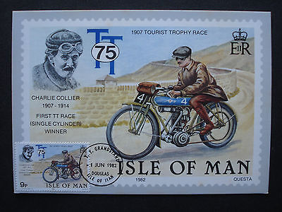 "GB Isle of Man 1982:MK maximum card ""Tourist Trophy: Charlie Collier"", MN 208"