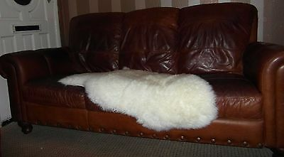 GC Vintage cigar brown Buffalo leather Chesterfield 3 seater club settee
