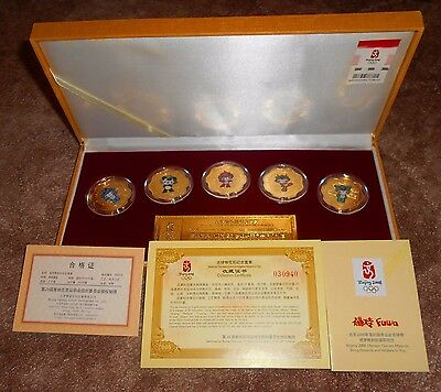 China Beijing 2008 Olympic Mascots - Ltd Ed. Good luck charms - good fortune