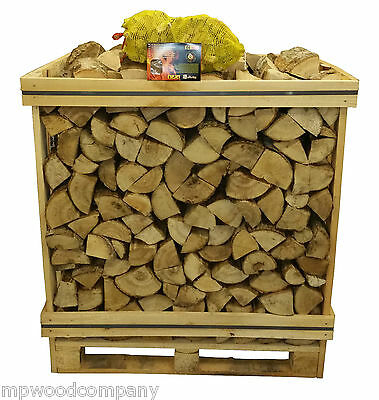 Ash Kiln Dried Firewood Logs 1.2 m3 Crate + Free Gift