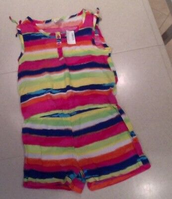 Girls Size Large Children Place one piece shorts jumper NWT