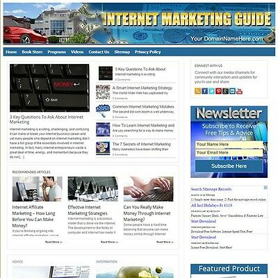 Established INTERNET MARKETING Turnkey MOBILE FRIENDLY Website For Sale