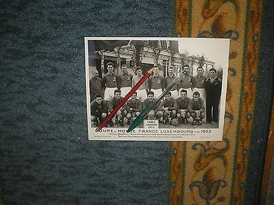 PHOTO  football EQUIPE DE FRANCE x LUXEMBOURG 1953