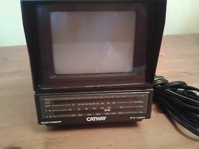 vintage  portable coulor tv