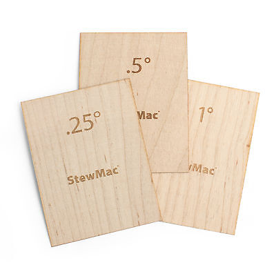 StewMac Neck Shims for Guitar, Blank, Set of 3