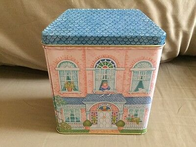 Vintage Hallmark Cards Collectible Doll House Tin w Paper Doll Blank Note Cards