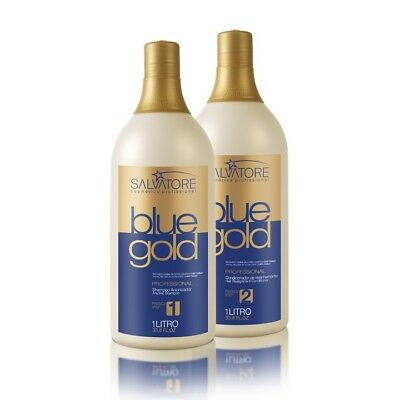 SALVATORE BLUE GOLD HAIR STRAIGHTENING 2x1 Lt BRAZILIAN KERATIN