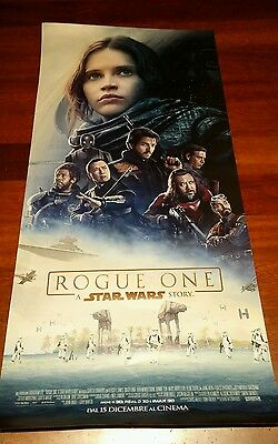 STAR WARS ROGUE ONE MANIFESTO POSTER ORIGINALE DEL FILM DIMENSIONI 68X32 cm
