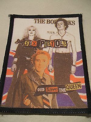Vintage sew on patch Sex Pistols God Save the Queen
