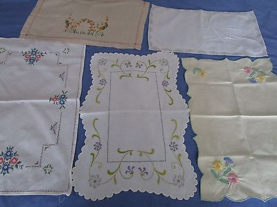Job lot of vintage cotton table mats/covers