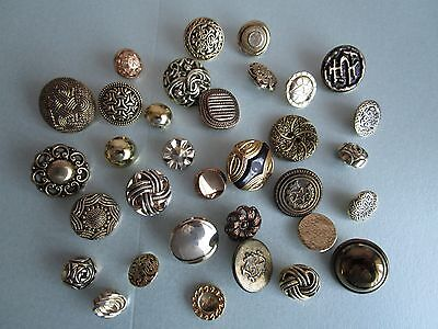 Job lot of gold tone buttons x 33