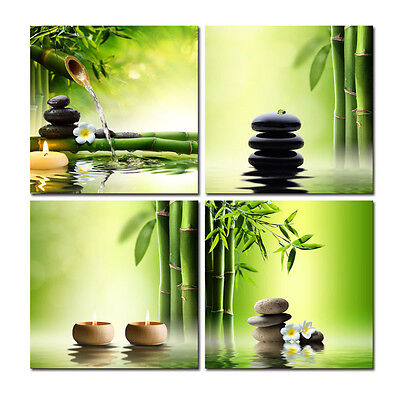Canvas Print Pic Painting Home Decor Wall Art Poster Green Zen Bamboo No Frame