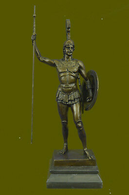 Bronze figurine of  Greek hero Achilles holding a spear Hand Made Gift DécoDB