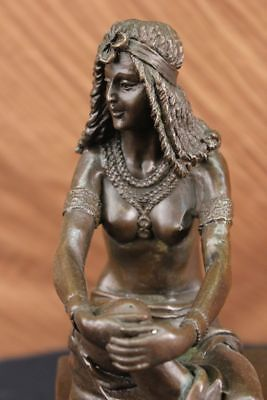Chiparus Figure Deco Egyptian Dancer Handmade Bronze Sculpture Signed Art Decor