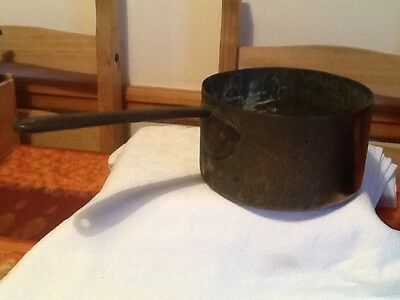 Victorian Copper Pan With Cast Handle