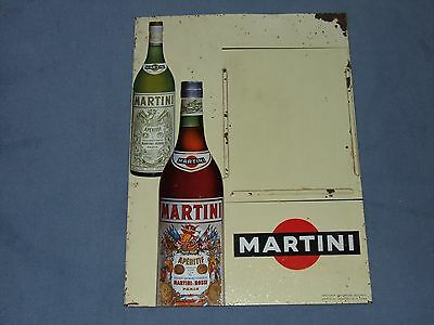 """PLAQUE ANCIENNE MARTINI """"TARIF des CONSOMMATIONS"""" CAFE / BISTROT"""