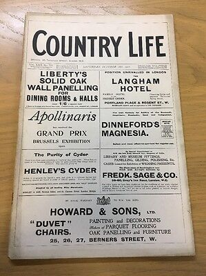 Vintage Country Life Magazine October 28Th 1911