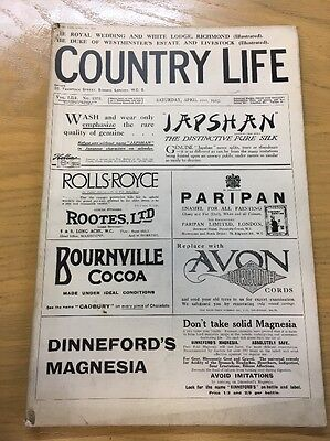 Vintage Country Life Magazine Royal Wedding And White Lodge April 21St 1923