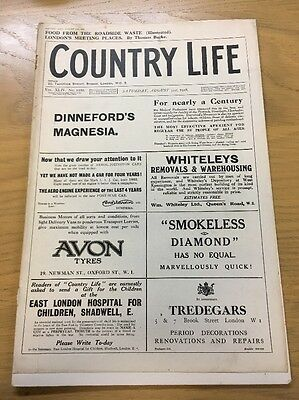 Vintage Country Life Magazine Londons Meeting Places August 31St 1918