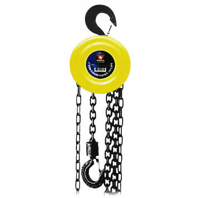 "Chain Hoist | 20' Ft Lift 1.5 Ton Chain Dia 5/16"" Inch w/ Mechanical Load Brake"