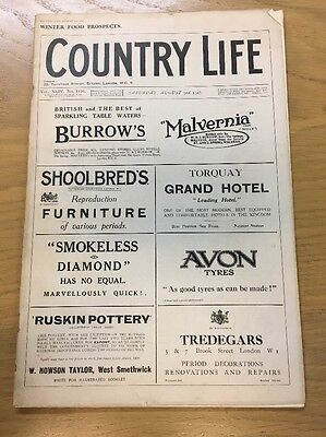 Vintage Country Life Magazine Winter Food Prospects August 3Rd 1918