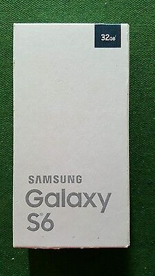 samsung galaxy s6 black sapphire 16gb box only (no accessories)