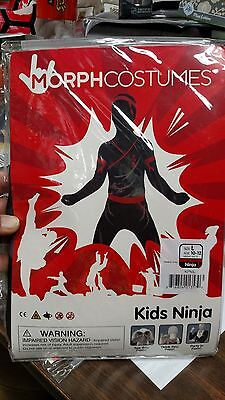 "MorphCostumes Kids Ninja Size L Height 4'6"" - 5' New in Package Halloween Party"