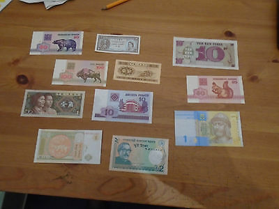 Bumper Collection of 11  world bank-notes  Lot 1