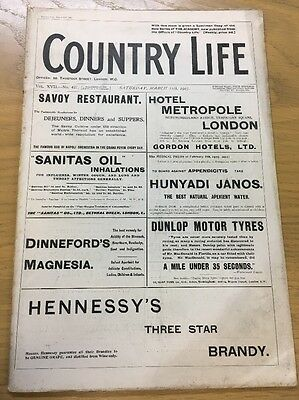 Vintage Country Life Magazine March 11Th 1905