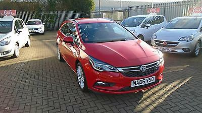 2016 Vauxhall Astra 1.6 CDTi 16V 136 Elite 5dr Auto Diesel red Automatic