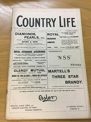 Vintage Country Life Magazine March 4Th 1905