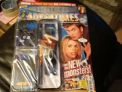 Doctor Who Adventures Magazine 1st Issue No.1 2006 Free Gifts . David Tennant