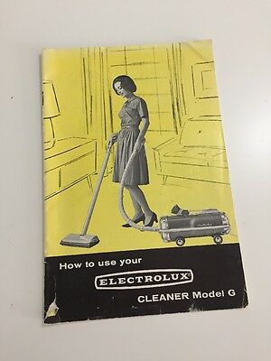 Vintage 1964 How to use Your Electrolux Vacuum Cleaner Model G Manual Booklet