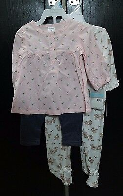 Lot of Baby Girls Sets Carters and Little Me (6 Months) NWT