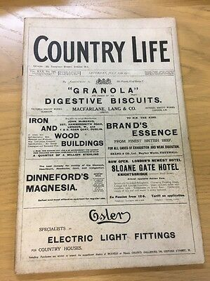 Vintage Country Life Magazine July 15Th 1911