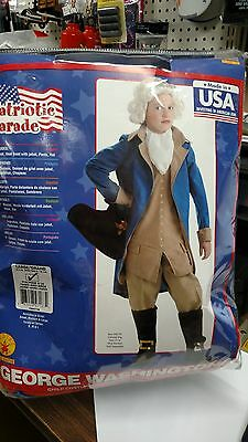 George Washington Child Costume Rubies 884718 Size Large 12-14 NIP